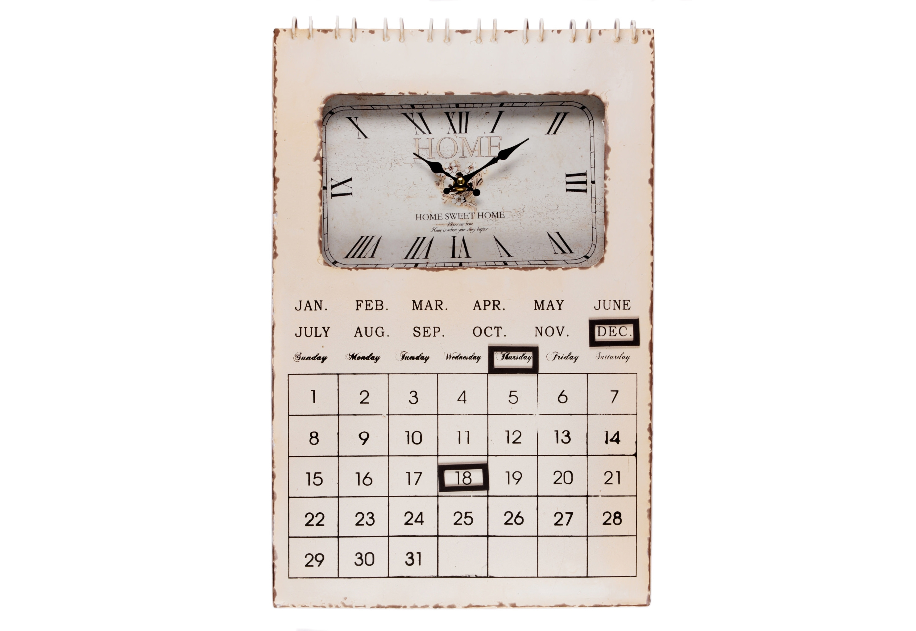 Настенные часы-календарь