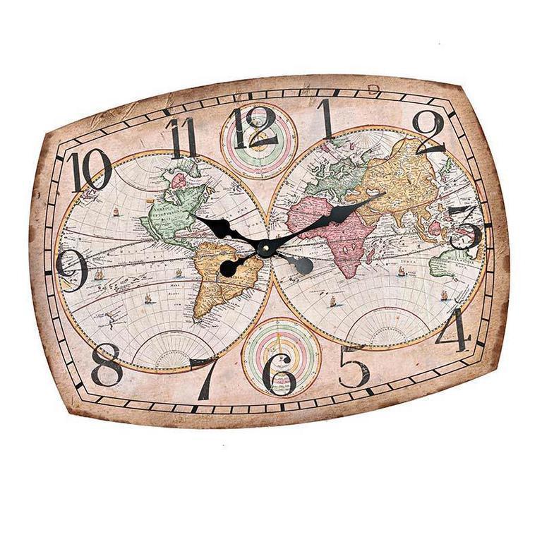 Настенные часы San AntonioНастенные часы<br>Кварцевый механизм.<br><br>Material: МДФ<br>Width см: 68<br>Depth см: 2<br>Height см: 50