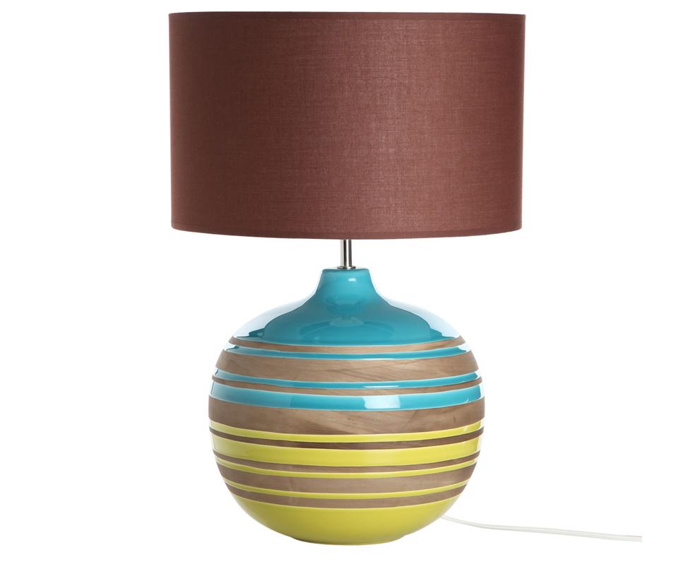 Настольная лампаДекоративные лампы<br>Веселый светильник, напоминающий о спелых полях под голубым небом. Круглое основание и круглый абажур гармонично дополняют друг друга.<br><br>Португальская компания Farol (в переводе означает «маяк») изготавливает из керамики уникальные вазы и светильники, отличающиеся смелым дизайном и неповторимыми формами.&amp;lt;div&amp;gt;&amp;lt;br&amp;gt;&amp;lt;/div&amp;gt;&amp;lt;div&amp;gt;&amp;lt;div&amp;gt;Вид цоколя: E27&amp;lt;/div&amp;gt;&amp;lt;div&amp;gt;Мощность: 60W&amp;lt;/div&amp;gt;&amp;lt;div&amp;gt;Количество ламп: 1&amp;lt;/div&amp;gt;&amp;lt;/div&amp;gt;<br><br>Material: Керамика<br>Height см: 52<br>Diameter см: 35