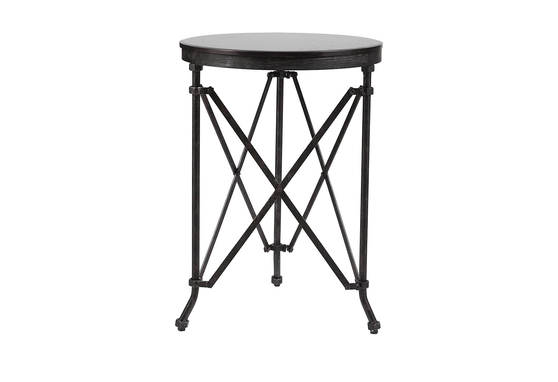 Журнальный столик CarrolПриставные столики<br>Стол Carrol изготовлен из высокопрочной стали. Это оригинальная мебель, которая удивляет своей фактурой и комфортабельностью. Круглая поверхность из мрамора идеального диаметра держится на металлических ножках, которые связаны между собой пересекающимися элементами, что придает всей конструкции максимальную устойчивость. Этот стол также можно использовать в качестве подставки под цветочные или декоративные композиции.<br><br>Material: Металл<br>Height см: 71<br>Diameter см: 51