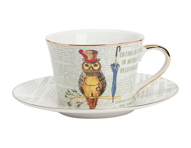 Чайная пара AffermazioneЧайные пары, чашки и кружки<br>Размеры: диаметр чашки 9 см, диаметр дна 6,8 см, высота 6,3 см, диаметр блюдца 15,3 см.<br><br>Material: Фарфор<br>Высота см: 6