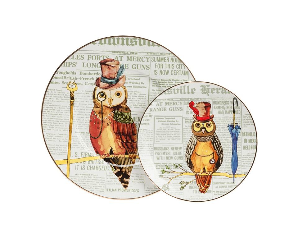 Комплект тарелок AffermazioneДекоративные тарелки<br>В комплект входят две тарелки.<br><br>Material: Фарфор<br>Height см: 1<br>Diameter см: 27