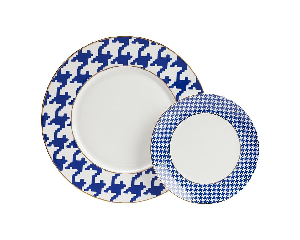 Комплект тарелок FechoТарелки<br><br><br>Material: Фарфор<br>Height см: 1<br>Diameter см: 27