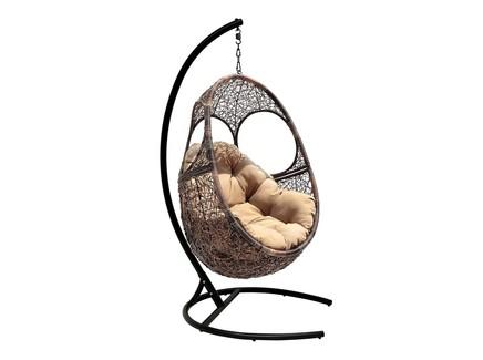 Кресло подвесное solar (flyingrattan) коричневый 90x135x72 см.