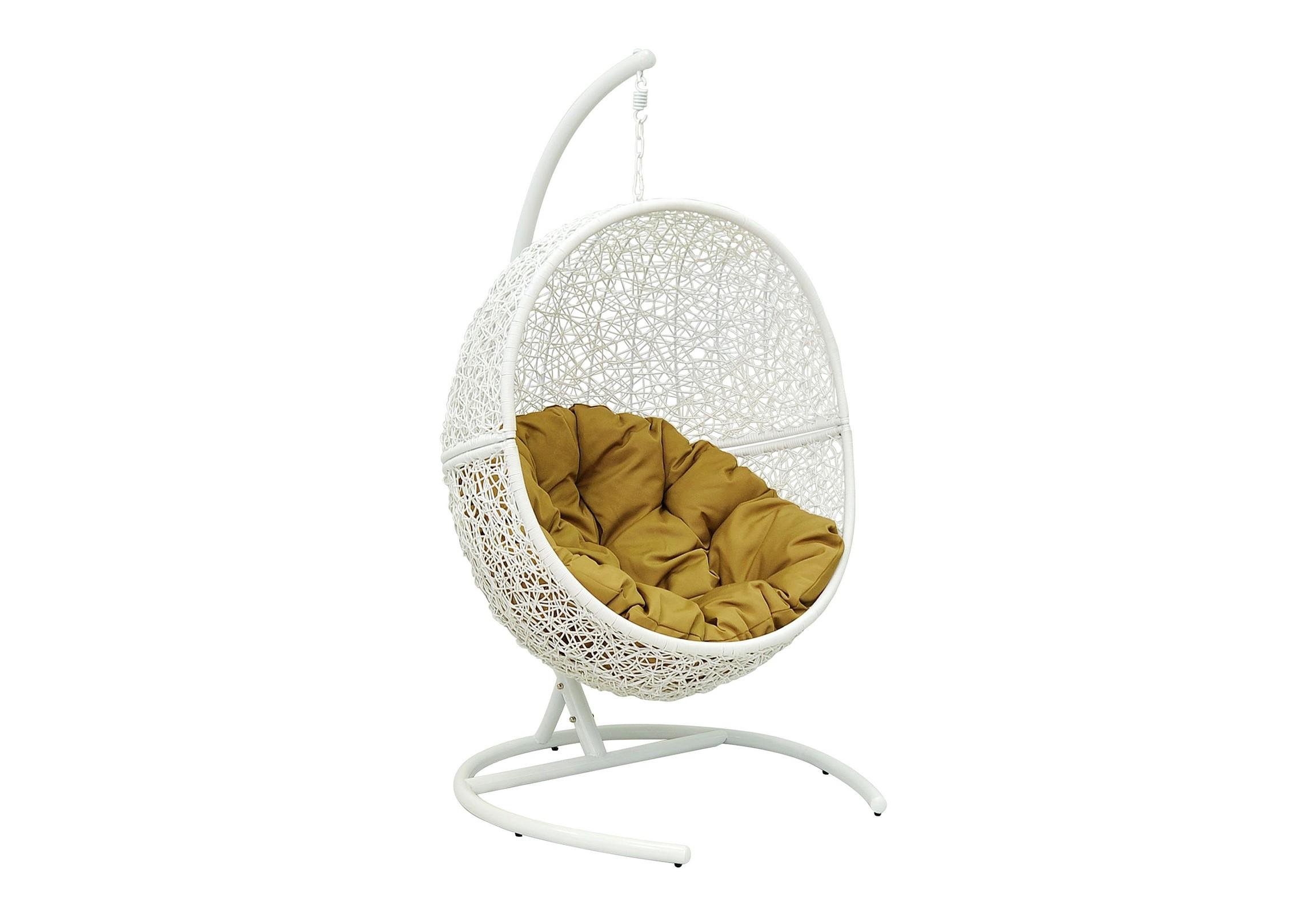 Кресло подвесное Lunar WhiteПодвесные кресла<br>Подвесное кресло выполнено из искусственного ротанга высокого качества. Искусственный ротанг круглой формы, что делает его очень похожим на натуральный ротанговый прут. Каркас опоры и самого кресла покрыт прочной, устойчивой к внешним воздействиям, порошковой краской. А мягкие подушки выполнены из водоотталкивающего материала.<br>Основа кресла выполнена из стали, благодаря чему подвесное кресло может выдерживать вес до 120 кг. Когда Вы сидите  в кресле, общая нагрузка приходится не на ажурное плетение, а именно на металлический каркас.&amp;lt;div&amp;gt;&amp;lt;br&amp;gt;&amp;lt;/div&amp;gt;&amp;lt;div&amp;gt;Материал каркаса: сталь&amp;lt;/div&amp;gt;&amp;lt;div&amp;gt;Материал плетения: PE-ротанг (искусственный ротанг) высокого качества (круглый)&amp;lt;/div&amp;gt;&amp;lt;div&amp;gt;Размер чаши: 95х78х117 см&amp;amp;nbsp;&amp;lt;/div&amp;gt;&amp;lt;div&amp;gt;Размер основания: 100х100х176 см&amp;amp;nbsp;&amp;lt;/div&amp;gt;&amp;lt;div&amp;gt;Выдерживаемая нагрузка: 120 кг&amp;lt;/div&amp;gt;&amp;lt;div&amp;gt;Вес: 37 кг&amp;amp;nbsp;&amp;lt;/div&amp;gt;&amp;lt;div&amp;gt;Конструкция кресла: сборно-разборное&amp;lt;/div&amp;gt;&amp;lt;div&amp;gt;Кресло состоит из трех частей: основание, опора и чаша. Сборка не требует специальных навыков.&amp;lt;/div&amp;gt;<br><br>Material: Искусственный ротанг<br>Ширина см: 95<br>Высота см: 117<br>Глубина см: 78