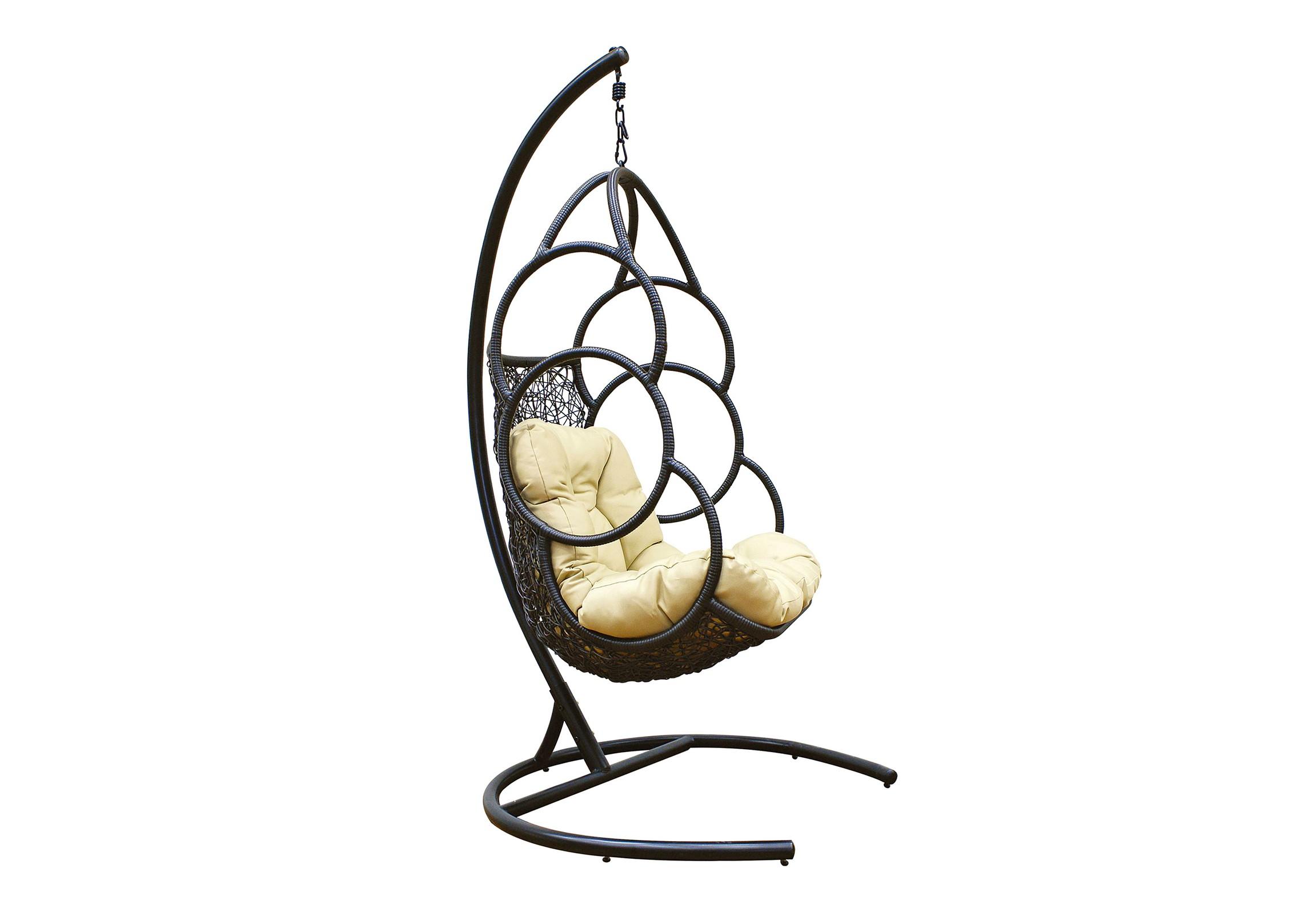 Кресло подвесное GalaxyПодвесные кресла<br>Подвесное кресло Galaxy выполнено из искусственного ротанга высокого качества. Каркас опоры и самого кресла покрыт прочной, устойчивой к внешним воздействиям порошковой краской.  А мягкие подушки выполнены из водоотталкивающего материала.  Galaxy - комфорное кресло с ярким, оригинальным дизайном. &amp;amp;nbsp;&amp;lt;div&amp;gt;&amp;lt;br&amp;gt;&amp;lt;/div&amp;gt;&amp;lt;div&amp;gt;Материал каркаса:  сталь&amp;amp;nbsp;&amp;lt;/div&amp;gt;&amp;lt;div&amp;gt;Материал:  искусственный ротанг, круглый&amp;amp;nbsp;&amp;lt;/div&amp;gt;&amp;lt;div&amp;gt;Цвет каркаса:  черный&amp;amp;nbsp;&amp;lt;/div&amp;gt;&amp;lt;div&amp;gt;Выдерживаемая нагрузка, кг:  120&amp;amp;nbsp;&amp;lt;/div&amp;gt;&amp;lt;div&amp;gt;Размер чаши: 81х73х124 см&amp;amp;nbsp;&amp;lt;/div&amp;gt;&amp;lt;div&amp;gt;Размер основания: 100х100х195 см&amp;amp;nbsp;&amp;lt;/div&amp;gt;&amp;lt;div&amp;gt;Объем, м3: 0,5&amp;amp;nbsp;&amp;lt;/div&amp;gt;&amp;lt;div&amp;gt;Вес,кг: 30&amp;lt;/div&amp;gt;<br><br>Material: Искусственный ротанг<br>Ширина см: 81<br>Высота см: 124<br>Глубина см: 73