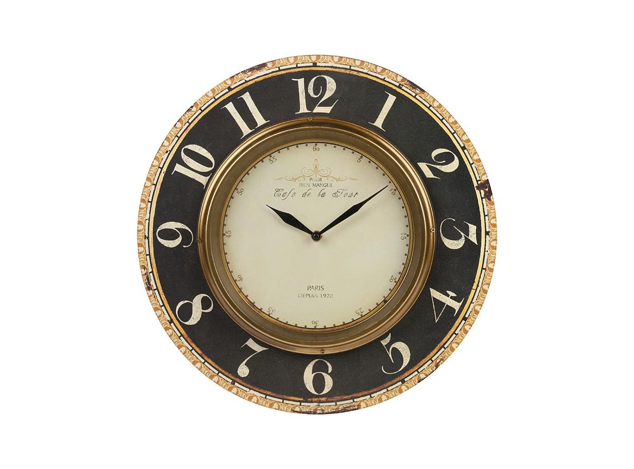Настенные часы Cafe De La TourНастенные часы<br>&amp;lt;div&amp;gt;Материалы: МДФ, металл&amp;lt;/div&amp;gt;&amp;lt;div&amp;gt;Настенные часы с кварцевым механизмом, батарейки в комплект не входят.&amp;lt;/div&amp;gt;<br><br>Material: МДФ<br>Глубина см: 1