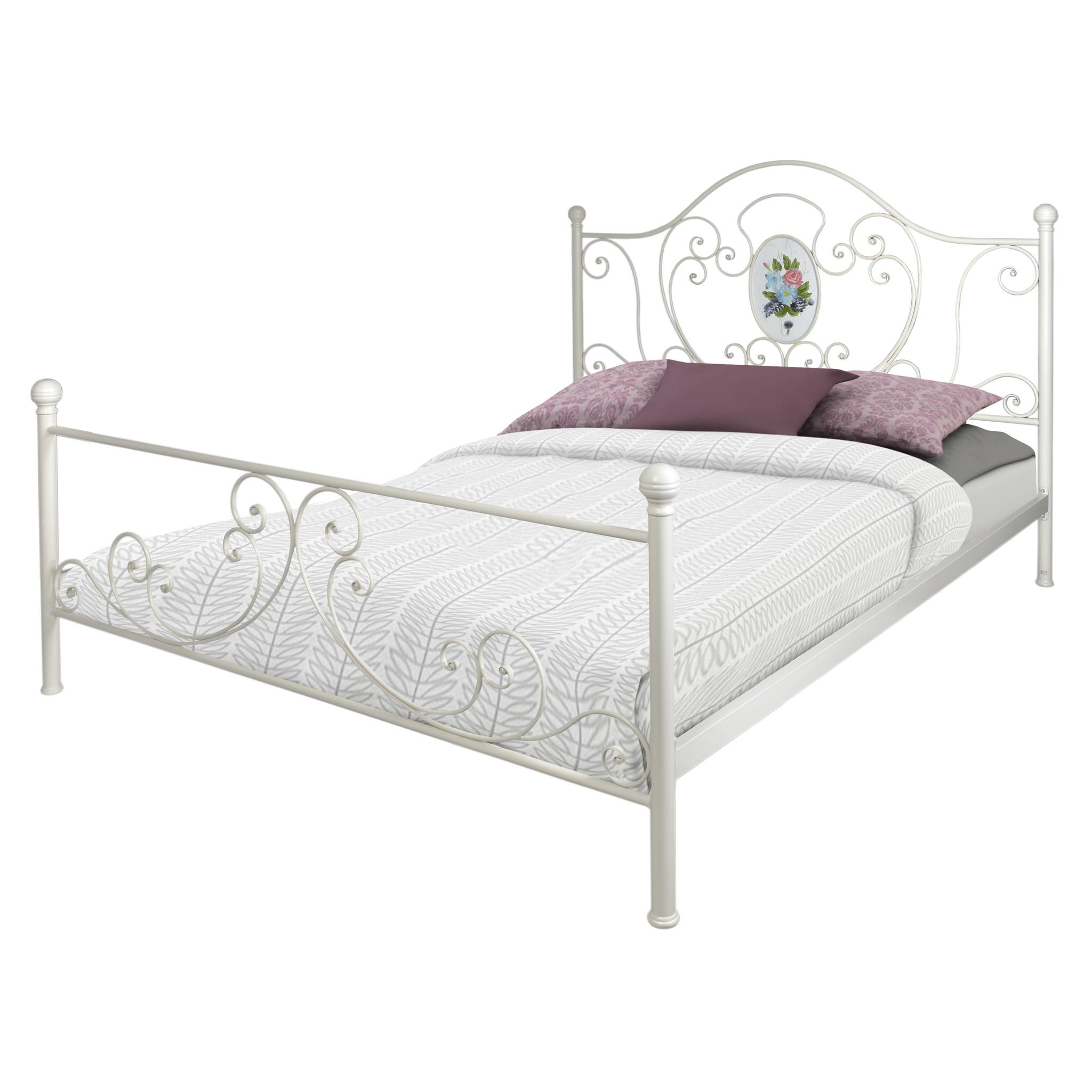 Кровать South HamsКованые и металлические кровати<br>размеры спального места 160 Х 200<br><br>Material: Металл<br>Ширина см: 202<br>Высота см: 122<br>Глубина см: 161