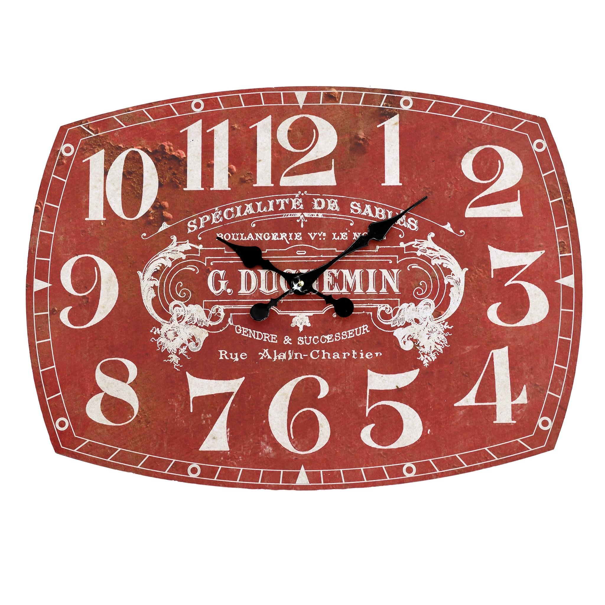Часы настенные BrockvilleНастенные часы<br>Механизм: кварцевый<br><br>Material: Дерево<br>Width см: 66<br>Depth см: 2<br>Height см: 48