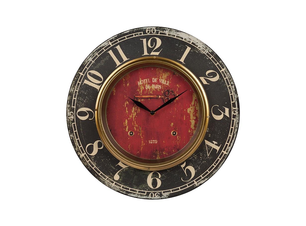 Настенные часы Hotel De VilleНастенные часы<br>&amp;lt;div&amp;gt;Материалы: МДФ, металл&amp;lt;/div&amp;gt;&amp;lt;div&amp;gt;Настенные часы с кварцевым механизмом, батарейки в комплект не входят.&amp;lt;/div&amp;gt;<br><br>Material: МДФ<br>Depth см: 1<br>Height см: None<br>Diameter см: 39