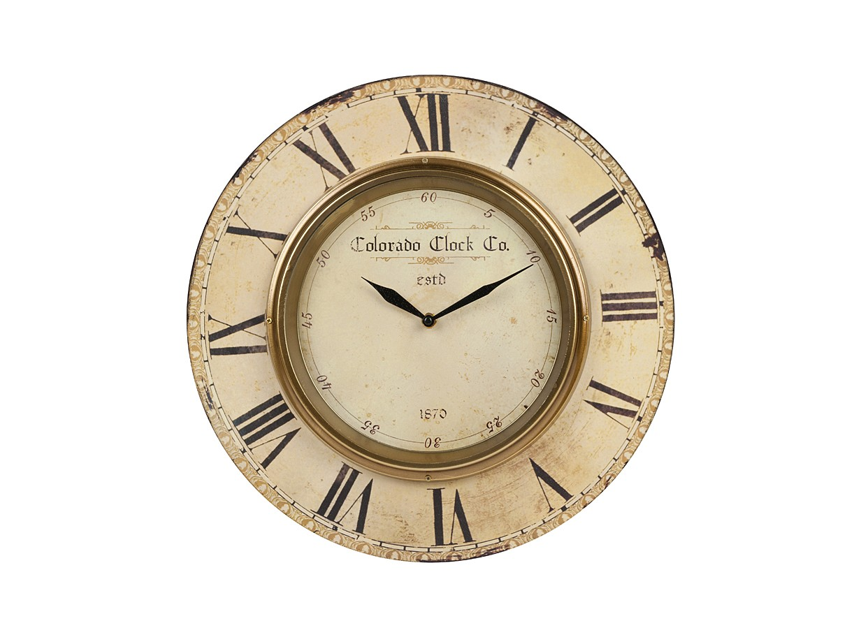 Настенные часы Colorado ClockНастенные часы<br>&amp;lt;div&amp;gt;Материалы: МДФ, металл&amp;lt;/div&amp;gt;Настенные часы с кварцевым механизмом, батарейки в комплект не входят.<br><br>Material: МДФ<br>Depth см: 1<br>Height см: None<br>Diameter см: 39