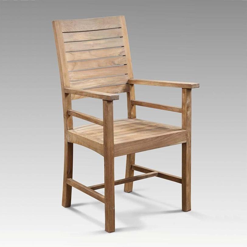 """Стул  """"Claudia""""Стулья для дачи<br>Удобный и практичный стул, навевающий мысли о лете. Хочется скорее расположить его на веранде или террасе загородного дома, устроиться поудобнее с книжкой или кружкой ароматного чая, слушать пение птиц и любоваться закатами.<br>Стул в наличии в цветную полоску<br><br>Material: Тик<br>Length см: None<br>Width см: 61.0<br>Depth см: 60.0<br>Height см: 105.0<br>Diameter см: None"""