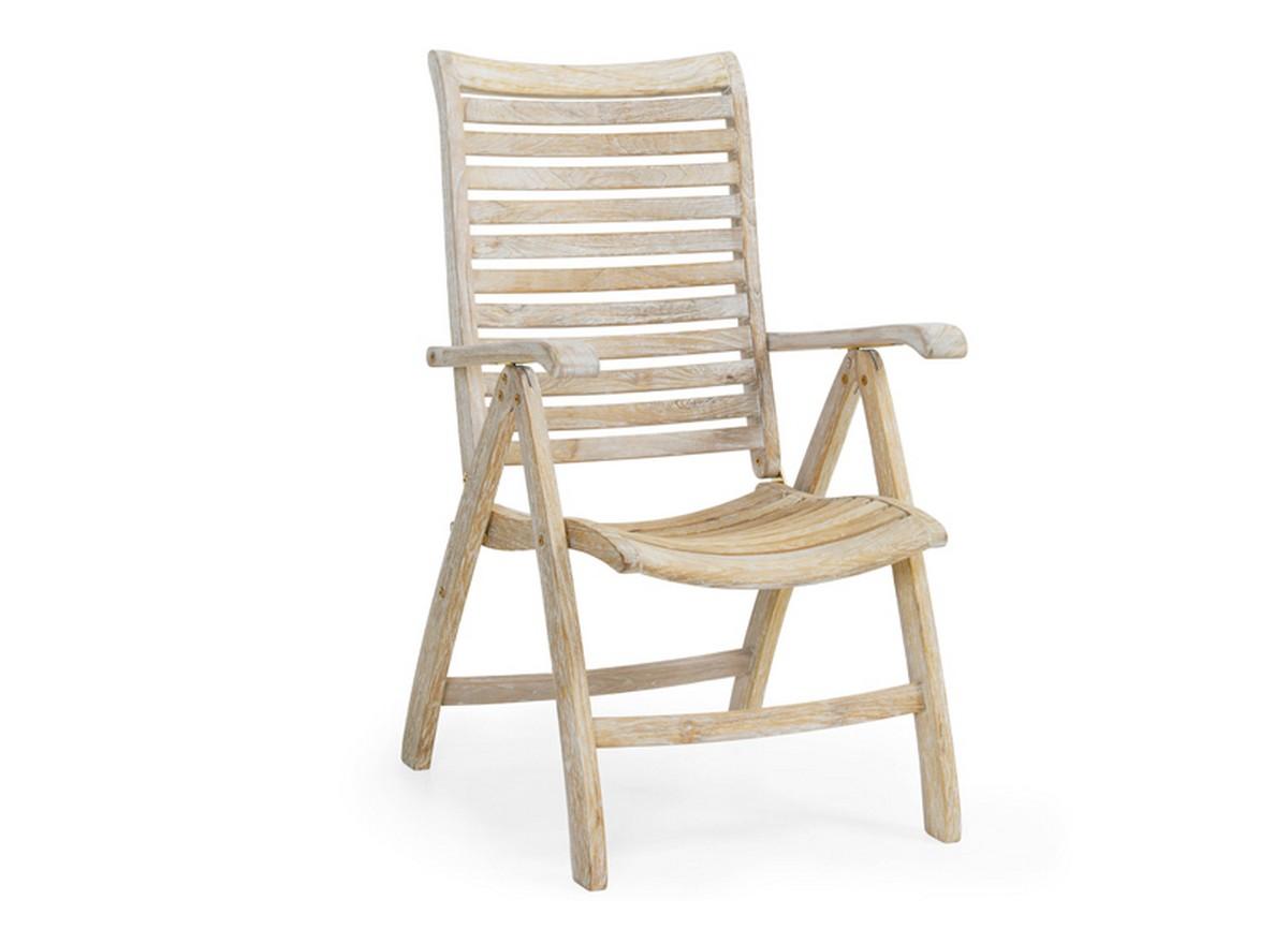 Кресло KarloКресла для улицы<br>Кресло Karlo с подлокотниками выполнено из искусственно восстановленного тика. Оно очень удобное благодаря эргономичной спинке и сиденью. Кресло имеет регулируемую по наклону спинку и механизм с помощью которого кресло легко и компактно складывается.<br><br>Material: Тик<br>Width см: 64<br>Depth см: 50<br>Height см: 104