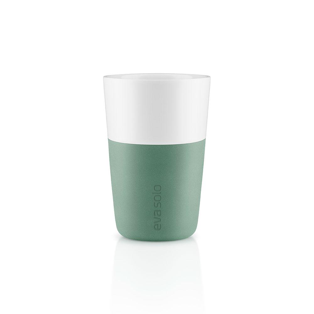 Набор чашек Latte (2 шт)Чайные пары, чашки и кружки<br>Дизайнеры Eva Solo разработали новые стаканы различной емкости для трех самых популярных видов кофе: эспрессо (80 мл), лунго (230 мл) и латте (360 мл). В них помещается именно то количество молока и пены, которое соответствует стандартным параметрам в популярных капсульных кофе-машинах. Чаши сделаны из фарфора с силиконовой оболочкой, которая защитит ваши пальцы от ожога. Стаканы можно мыть в посудомоечной машине, предварительно сняв силиконовую часть. В набор входят две чашки.&amp;lt;div&amp;gt;&amp;lt;br&amp;gt;&amp;lt;/div&amp;gt;&amp;lt;div&amp;gt;Объем: 360 мл.&amp;lt;br&amp;gt;&amp;lt;/div&amp;gt;<br><br>Material: Фарфор<br>Width см: None<br>Height см: 12<br>Diameter см: 8,5