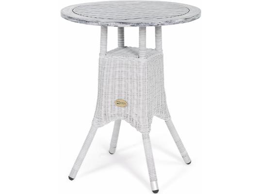 Стол ToscanaСтолы для улицы<br>Круглый столик Toscana выполнен из искусственного ротанга на алюминиевом каркасе, столешница выполнена из акации, окрашенной в черный цвет с эффектом старения. За ним Вы сможете полюбоваться природой с балкона или веранды за чашечкой кофе.&amp;amp;nbsp;<br><br>Material: Ротанг<br>Height см: 72<br>Diameter см: 60