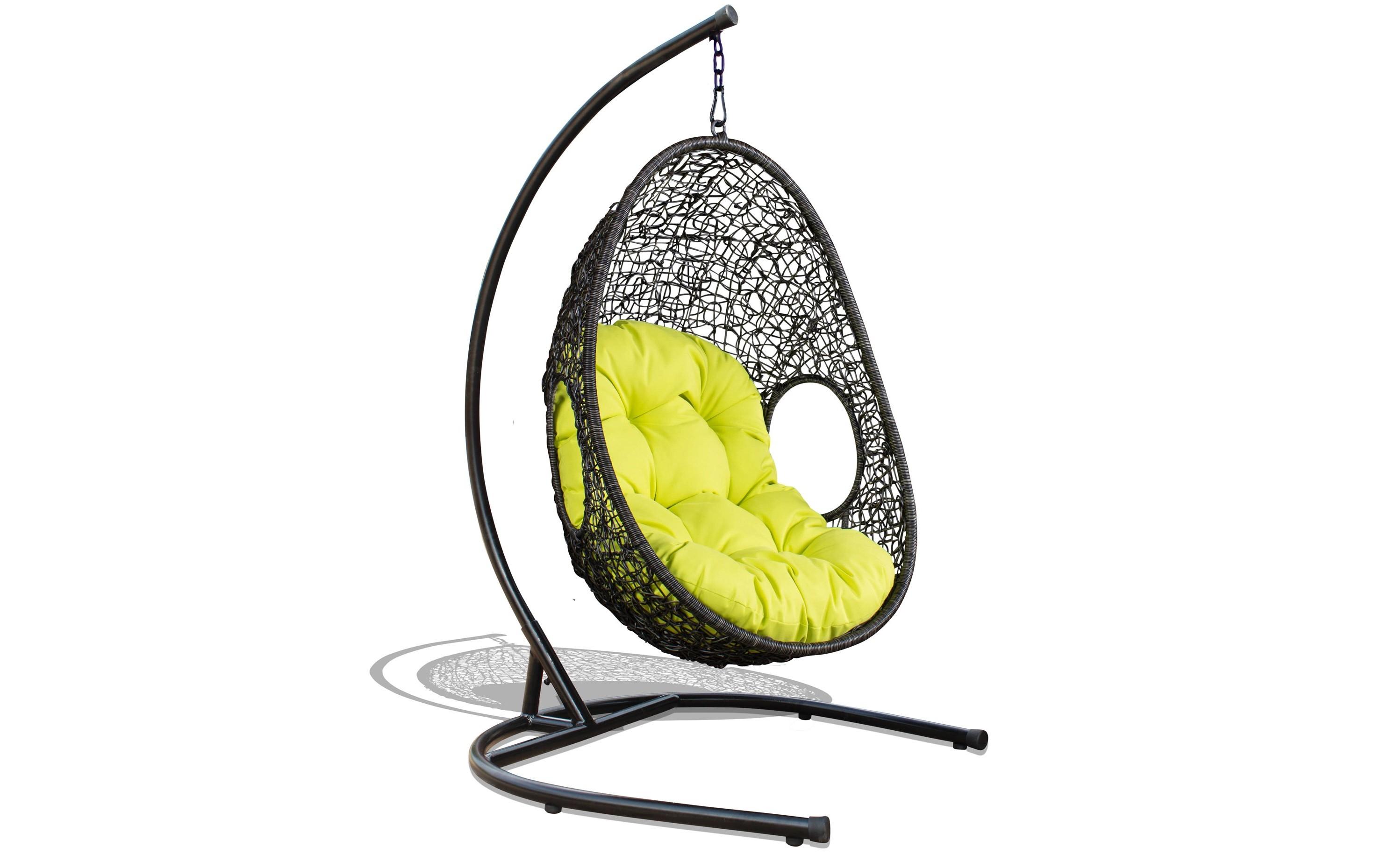 Подвесное кресло LutonКачели<br>Подвесное кресло Luton из искусственного 5-мм круглого ротанга коричневого цвета на стальном каркасе. Подушка включена в стоимость.&amp;amp;nbsp;<br><br>Material: Ротанг<br>Width см: 88<br>Depth см: 71<br>Height см: 183