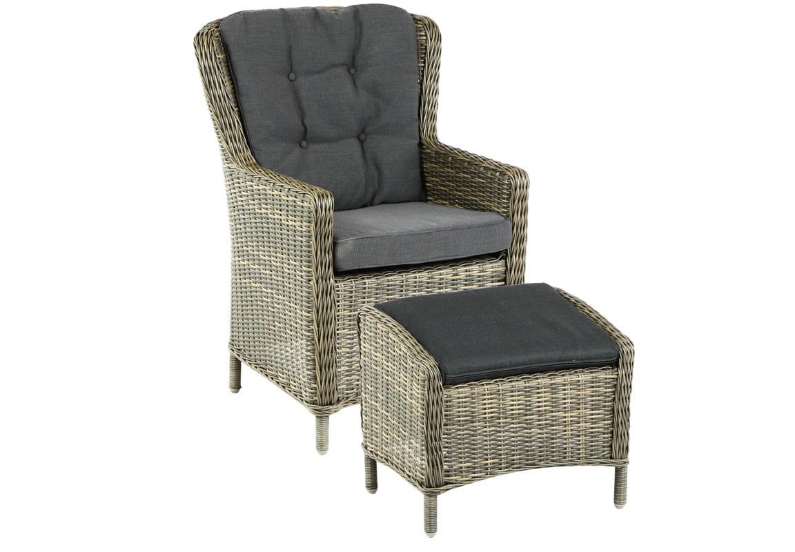 Кресло MarinaКресла для сада<br>Marina - это комплект, состоящий из плетеного кресла и пуфа. Подушки включены в комплект. Каркас мебели алюминиевый, плетение из серого полукруглого искусственного ротанга. Не требуется сборка.&amp;amp;nbsp;&amp;lt;div&amp;gt;&amp;lt;br&amp;gt;&amp;lt;/div&amp;gt;&amp;lt;div&amp;gt;Табурет:<br>Длина: 60 см<br>Ширина: 45 см<br>Высота: 45 см &amp;lt;/div&amp;gt;<br><br>Material: Искусственный ротанг<br>Width см: 78<br>Depth см: 73<br>Height см: 97