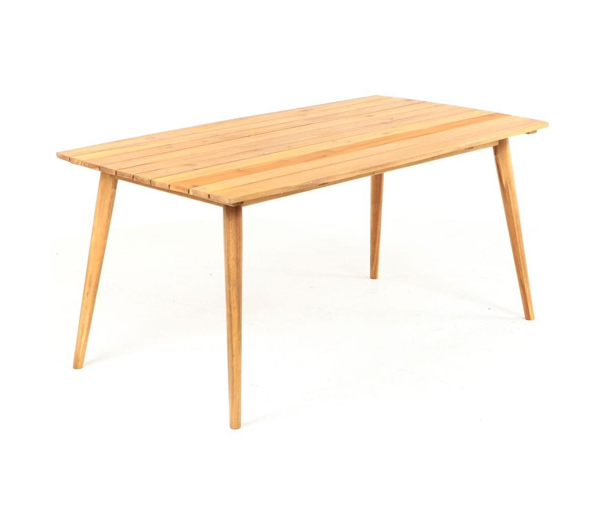 Стол AndorraОбеденные столы<br>Стол Andorra произведен из акации. Специальная обработка придает древесине фактуру идентичную натуральному тику. Требуется сборка.<br>Уникальная возможность приобрести мебель выглядящую как тик, но по цене акации!<br><br>Material: Дерево<br>Width см: 200<br>Depth см: 100<br>Height см: 75