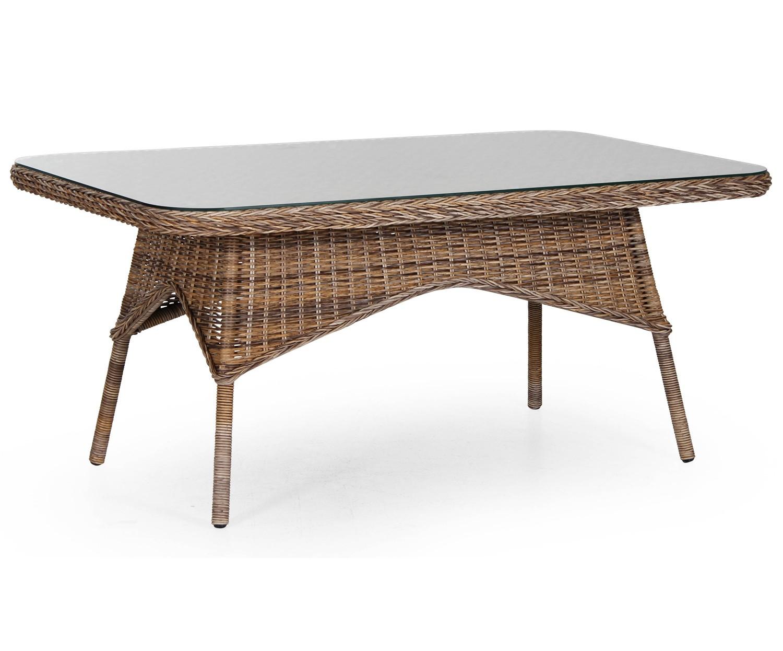 Стол EvitaСтолы и столики для сада<br>Обеденный стол 5646-62 Evita теперь производится в оригинальном светло-коричневом (натуральном) цвете. Требуется сборка.<br>Коллекция мебели Evita выполнена в классической форме, кресло с высокой удобной спинкой и табуретка, которую можно использовать как поставку для ног. Мебель из коллекции Evita изготовлена из искусственного ротанга на алюминиевом каркасе и отлично сочетается со столиком Silva диаметром 60см. Подушки в стоимость кресел не входят.<br><br>Material: Ротанг<br>Width см: 150<br>Depth см: 90<br>Height см: 67
