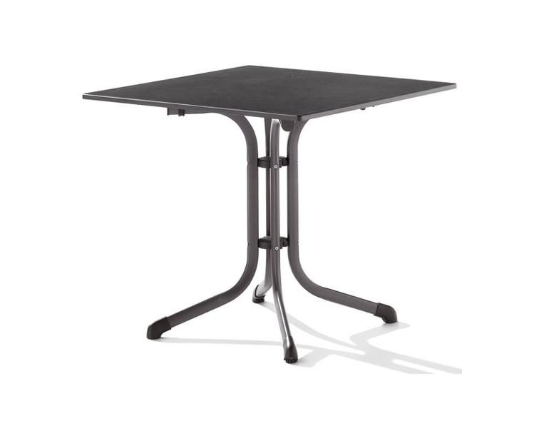Стол PuroplanСтолы и столики для сада<br>Puroplan – это классический кофейный столик для уличных кафе с ногой цвета антрацит и черной столешницей. Столешница очень износостойкая. Не требуется сборка.&amp;lt;div&amp;gt;&amp;lt;br&amp;gt;&amp;lt;/div&amp;gt;&amp;lt;div&amp;gt;Материал&amp;lt;span class=&amp;quot;Apple-tab-span&amp;quot; style=&amp;quot;white-space:pre&amp;quot;&amp;gt;&amp;lt;/span&amp;gt;сталь/искусственный камень&amp;lt;br&amp;gt;&amp;lt;/div&amp;gt;<br><br>Material: Сталь<br>Width см: 80<br>Depth см: 80<br>Height см: 72