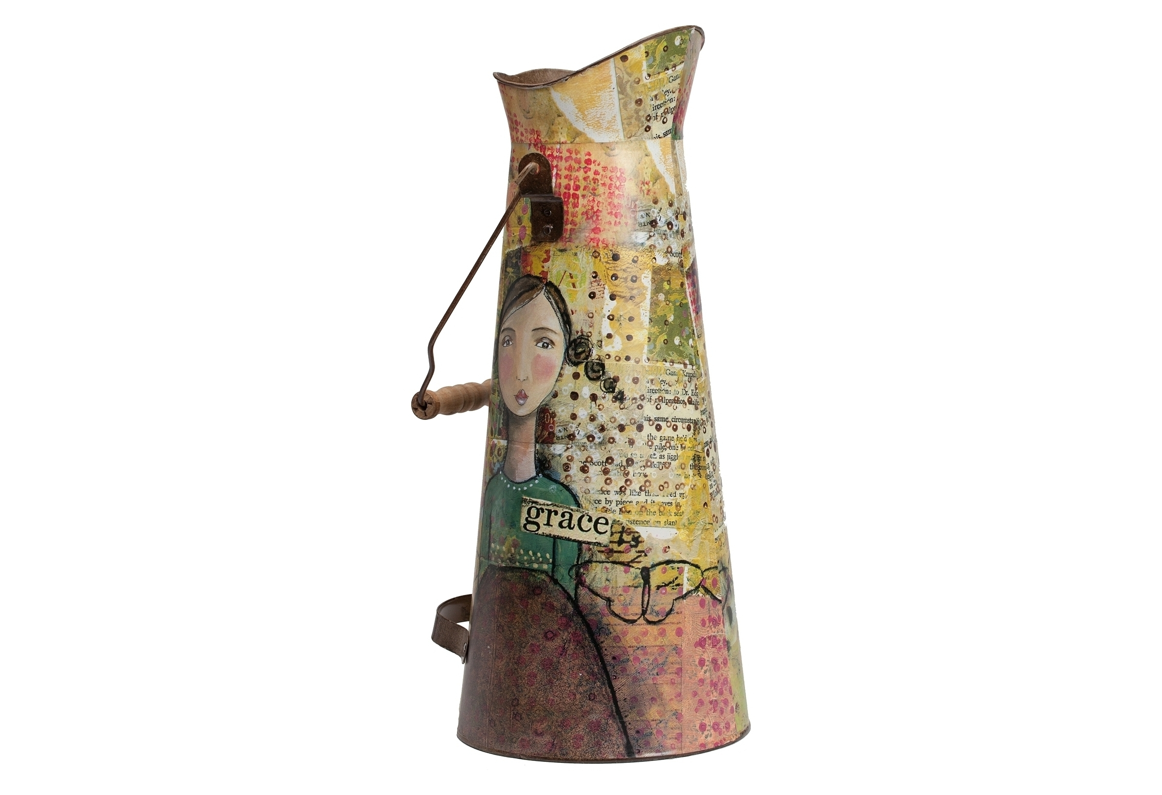 Декоративный кувшин Kelly PoshКувшины и графины<br>Объем 3 литра.<br><br>Material: Металл<br>Height см: 43,5<br>Diameter см: 18,5