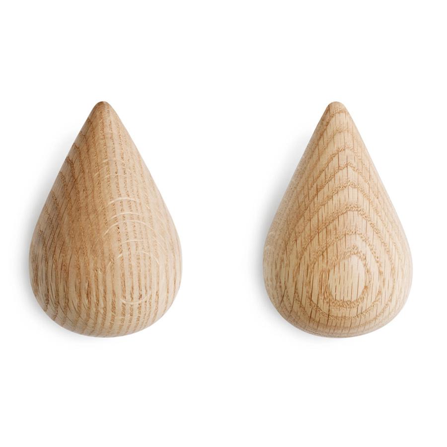 Крючки DropitВешалки<br>Необычные крючки в виде капель. В наборе 2 штуки. Крепления идут в комплекте. Рекомендуется чистить влажной тканью.<br><br>Material: Дерево<br>Width см: 6<br>Depth см: 8,7<br>Height см: 9,3