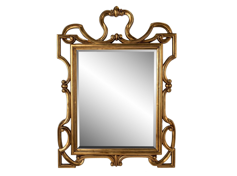 Зеркало King GoldНастенные зеркала<br>King Gold станет украшением как классического, так и современного интерьера. Зеркало оформлено строгим багетом, который декорирован эффектной композицией из резных деталей. Необычное сочетание прямоугольных и изогнутых элементов придает образу величественность и благородство. Богатый оттенок под античное золото подчеркивает великолепие облика. Такой аксессуар привнесет в пространство частичку королевской роскоши и романтики.&amp;amp;nbsp;&amp;lt;br&amp;gt;<br><br>Material: Стекло<br>Length см: None<br>Width см: 75.0<br>Depth см: 4.0<br>Height см: 90.0<br>Diameter см: None