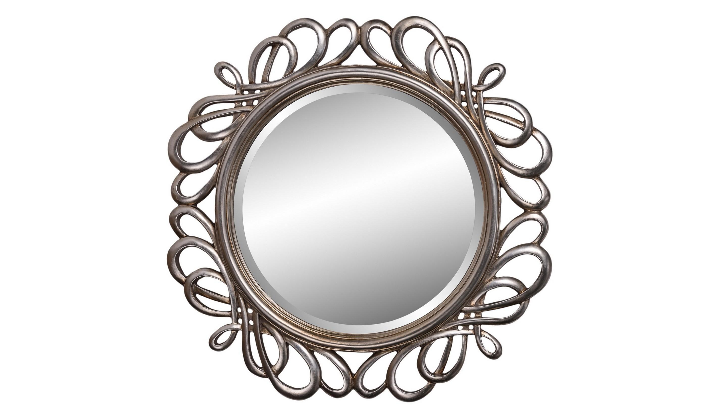 Зеркало PlexusНастенные зеркала<br>Круглое зеркало 80 см в диаметре в оригинальной узорной витиеватой раме серебряного цвета подойдет для оформления смелого современного интерьера в стиле ар-деко. Зеркало можно повесить в гостиной, спальне, прихожей.&amp;amp;nbsp;&amp;lt;div&amp;gt;&amp;lt;br&amp;gt;&amp;lt;/div&amp;gt;&amp;lt;div&amp;gt;Материал: полирезин.&amp;lt;/div&amp;gt;&amp;lt;div&amp;gt;&amp;lt;span style=&amp;quot;font-size: 14px;&amp;quot;&amp;gt;Цвет: античное серебро&amp;amp;nbsp;&amp;lt;/span&amp;gt;&amp;lt;br&amp;gt;&amp;lt;/div&amp;gt;<br><br>Material: Стекло<br>Diameter см: 80
