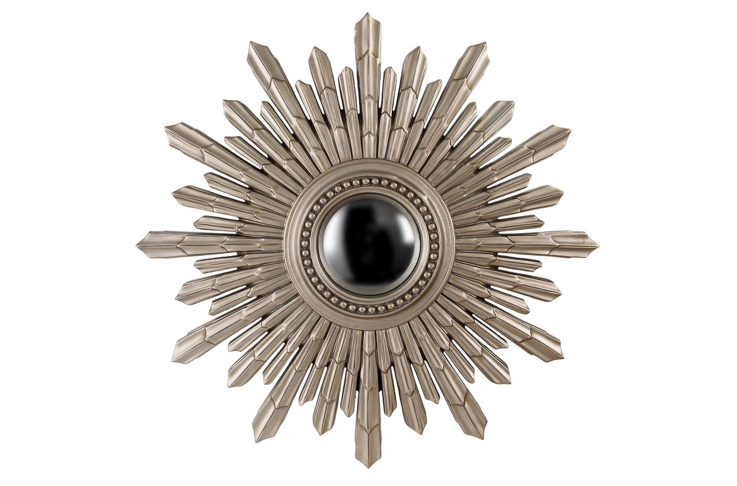 Зеркало New Solar SilverНастенные зеркала<br>Это сферическое&amp;amp;nbsp;зеркало в необычный раме в виде солнца несет не только практичную, но, прежде всего, декоративную функцию, ведь такое зеркало станет настоящим украшением интерьера! Зеркало подойдет для интерьера гостиной, прихожей или спальни, оформленной в стиле ар-деко или эклектика.&amp;amp;nbsp;&amp;lt;div&amp;gt;&amp;lt;br&amp;gt;&amp;lt;/div&amp;gt;&amp;lt;div&amp;gt;&amp;lt;div&amp;gt;&amp;lt;span style=&amp;quot;font-size: 14px;&amp;quot;&amp;gt;Материал: полиуретан.&amp;lt;/span&amp;gt;&amp;lt;br&amp;gt;&amp;lt;/div&amp;gt;&amp;lt;/div&amp;gt;&amp;lt;div&amp;gt;&amp;lt;span style=&amp;quot;font-size: 14px;&amp;quot;&amp;gt;Цвет: античное серебро&amp;amp;nbsp;&amp;lt;/span&amp;gt;&amp;lt;span style=&amp;quot;font-size: 14px;&amp;quot;&amp;gt;&amp;lt;br&amp;gt;&amp;lt;/span&amp;gt;&amp;lt;/div&amp;gt;<br><br>Material: Пластик<br>Length см: None<br>Width см: None<br>Depth см: None<br>Height см: None<br>Diameter см: 103.0