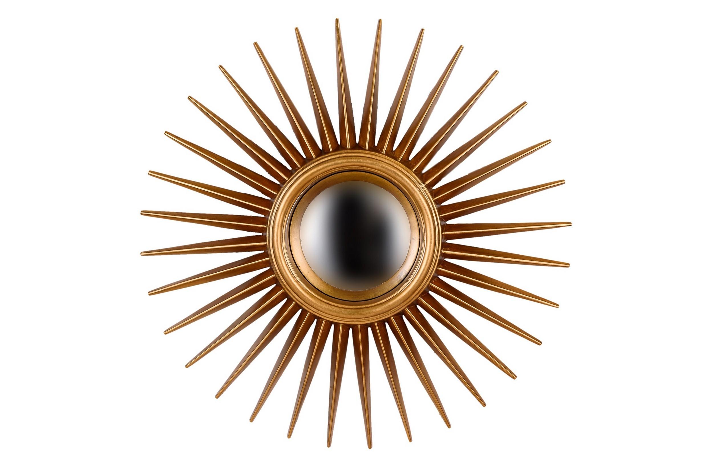 Зеркало в раме солнце Star GoldНастенные зеркала<br>Такой интересный декор не останется без внимания любителей всего оригинального. Это не удивительно, ведь каждая деталь &amp;quot;Star Gold&amp;quot; завораживает своей нетривиальностью. Изюминкой оформления выступает рама, чьи пропорции делают декор похожим на солнце. Остроконечные золотые лучи отходят от зеркальной поверхности не гладкой, а выпуклой сферической формы. Это придает &amp;quot;Star Gold&amp;quot; больше схожести с яркой звездой, которая теперь может сиять не только на небосклоне, но и у вас в гостиной или холле.&amp;lt;div&amp;gt;&amp;lt;br&amp;gt;&amp;lt;/div&amp;gt;&amp;lt;div&amp;gt;Влагостойкое серебряное зеркало.&amp;lt;/div&amp;gt;&amp;lt;div&amp;gt;Материал рамы: полиуретан.&amp;lt;/div&amp;gt;&amp;lt;div&amp;gt;Цвет зеркала/рамы: золото.&amp;lt;/div&amp;gt;&amp;lt;div&amp;gt;Размер внешний, с рамой: диаметр 76 см.&amp;lt;/div&amp;gt;&amp;lt;div&amp;gt;Вес: 4,5 кг.&amp;lt;/div&amp;gt;<br><br>Material: Пластик<br>Depth см: 4<br>Diameter см: 76