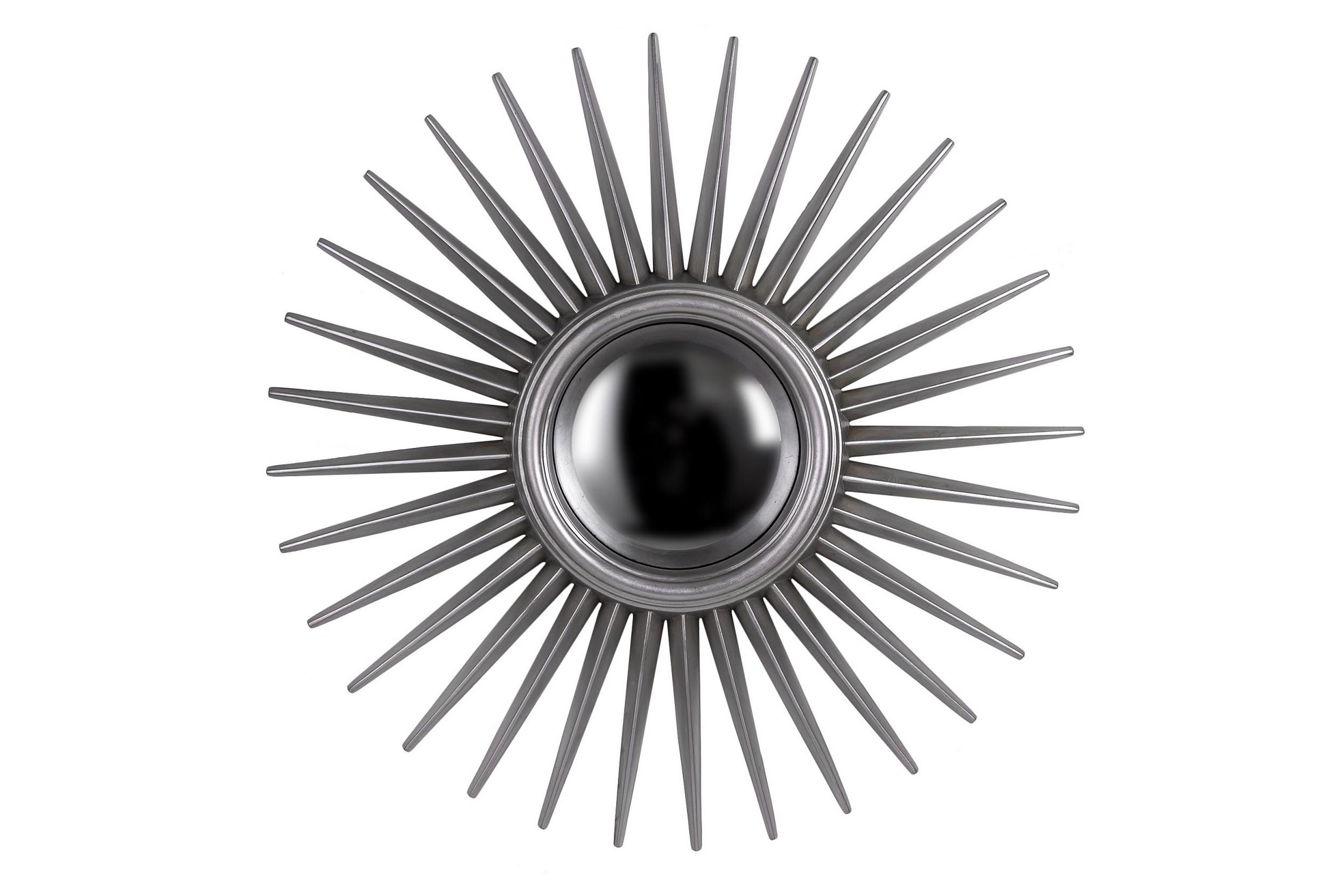 Зеркало в раме солнце Star SilverНастенные зеркала<br>С таким зеркалом в вашем доме всегда будет стоять хорошая погода. Это &amp;quot;солнце&amp;quot;, имеющее оригинальный силуэт, осветит пространство лучами элегантности, присущей американскому стилю. Использование серебряного цвета для оформления позволяет зеркалу выглядеть сдержаннее и утонченнее.&amp;lt;div&amp;gt;&amp;lt;br&amp;gt;&amp;lt;/div&amp;gt;&amp;lt;div&amp;gt;Влагостойкое серебряное сферическое зеркало.&amp;lt;/div&amp;gt;&amp;lt;div&amp;gt;Материал рамы: полиуретан.&amp;lt;/div&amp;gt;&amp;lt;div&amp;gt;Цвет зеркала/рамы: серебро.&amp;lt;/div&amp;gt;&amp;lt;div&amp;gt;Размер внешний, с рамой: диаметр 76 см.&amp;lt;/div&amp;gt;&amp;lt;div&amp;gt;Вес: 4,5 кг.&amp;lt;/div&amp;gt;<br><br>Material: Пластик<br>Diameter см: 76