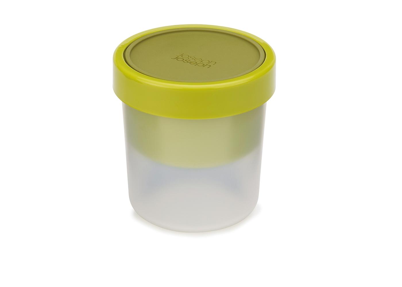 Ланч-бокс для супа компактныйЕмкости для хранения<br>&amp;lt;div&amp;gt;Ланч-бокс для супа с инновационным дизайном, предусматривающий защиту от протекания. Основной контейнер вмещает до 600 мл. жидкости, а небольшое верхнее отделение прекрасно подойдет для хлеба или гренок. Части контейнера отделены друг от друга герметичной силиконовой крышкой, которая плотно фиксируется блокирующим кольцом. Пустые контейнеры можно сложить один в другой, чтобы сэкономить место в сумке.&amp;lt;/div&amp;gt;&amp;lt;div&amp;gt;&amp;lt;br&amp;gt;&amp;lt;/div&amp;gt;&amp;lt;div&amp;gt;Можно мыть в посудомоечной машине. Контейнер и крышки можно разогревать в микроволновой печи, предварительно удалив блокирующее кольцо.&amp;lt;/div&amp;gt;<br><br>Material: Пластик<br>Width см: None<br>Height см: 11,5<br>Diameter см: 11