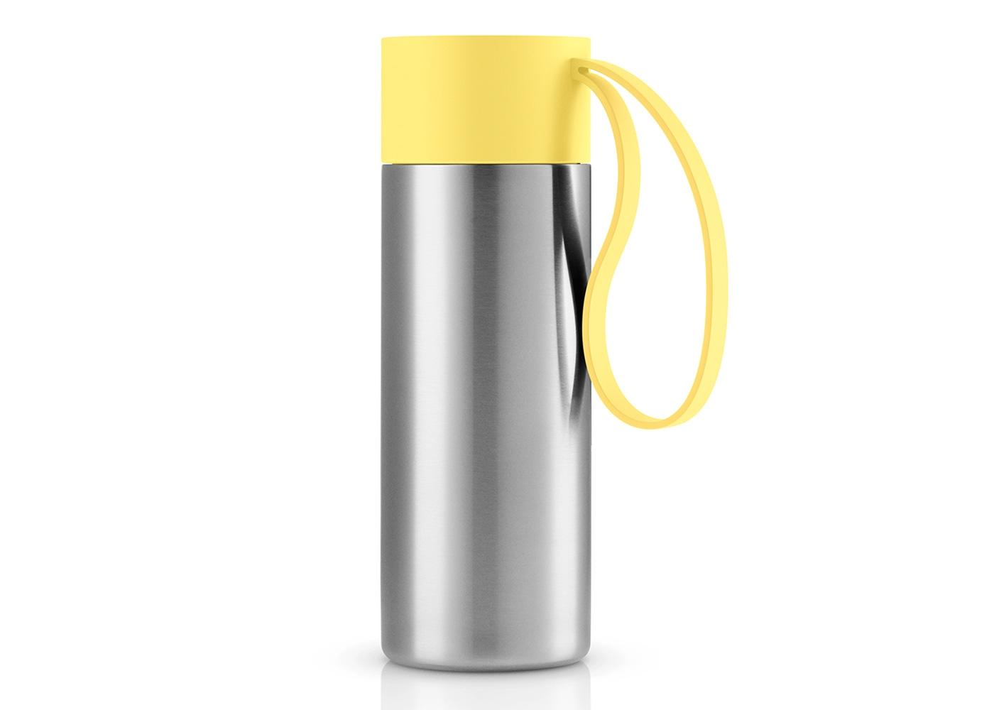 Термос To goТермосы<br>Термос, который можно брать с собой куда угодно. Крышка легко открывается и закрывается даже на ходу благодаря функциональному клапану, с которым легко справиться одной рукой. Наполните термос To Go кофе или другим напитком - и двойные герметичные стенки надёжно сохранят напиток горячим или холодным. Практичный силиконовый ремешок поможет взять термос с собой и всегда иметь возможность выпить горячего или холодного напитка.<br>Изготовлен из стали, пластика и силикона. Можно мыть в посудомоечной машине.&amp;amp;nbsp;&amp;lt;div&amp;gt;&amp;lt;br&amp;gt;&amp;lt;/div&amp;gt;&amp;lt;div&amp;gt;Объём 350 мл.&amp;amp;nbsp;&amp;lt;/div&amp;gt;<br><br>Material: Металл<br>Height см: 20,8<br>Diameter см: 7,7
