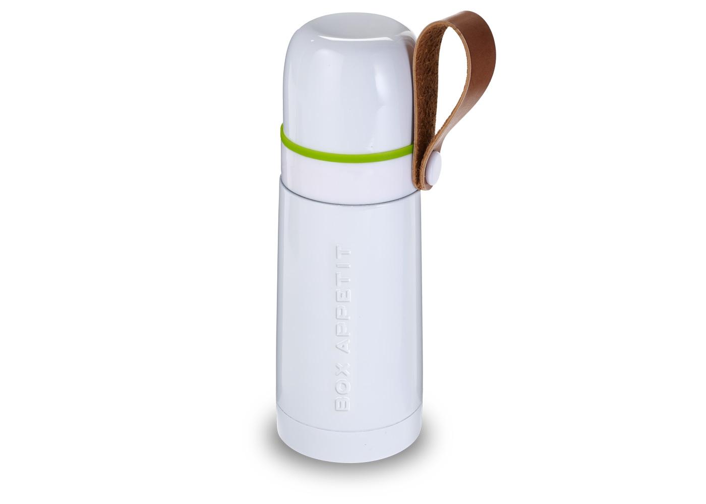 Термос Box appetiteЕмкости для хранения<br>Компактный  функциональный термос, выполненный в винтажном стиле. Сохраняет температуру горячих напитков на протяжении 8 часов и холодных — на протяжении 24 часов. <br>Оснащен ручкой из эко-кожи и удобной кнопкой на горлышке для переливания.&amp;amp;nbsp;&amp;lt;div&amp;gt;&amp;lt;br&amp;gt;&amp;lt;/div&amp;gt;&amp;lt;div&amp;gt;&amp;amp;nbsp;Объем 350 мл.&amp;lt;/div&amp;gt;<br><br>Material: Сталь<br>Height см: 20<br>Diameter см: 7
