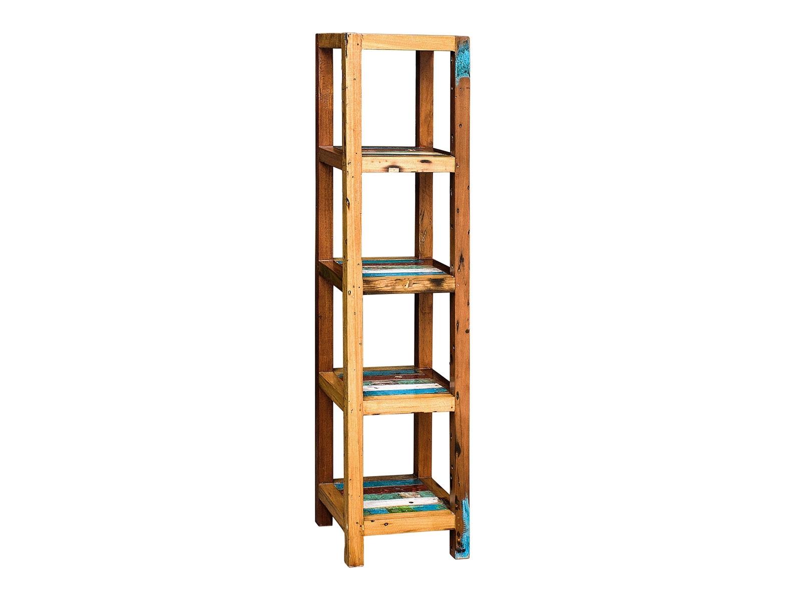Стеллаж ВавилонСтеллажи и этажерки<br>Напольный стеллаж, выполненный из массива древесины старого рыбацкого судна с сохранением оригинальной многослойной окраски.&amp;amp;nbsp;&amp;lt;span style=&amp;quot;line-height: 1.78571;&amp;quot;&amp;gt;Имеет 5 полок разной вместимости.&amp;amp;nbsp;&amp;lt;/span&amp;gt;&amp;lt;span style=&amp;quot;line-height: 1.78571;&amp;quot;&amp;gt;Подходит для использования как внутри помещения, так и снаружи.&amp;lt;/span&amp;gt;&amp;lt;div&amp;gt;&amp;lt;br&amp;gt;&amp;lt;/div&amp;gt;<br><br>Material: Тик<br>Ширина см: 40<br>Высота см: 175<br>Глубина см: 40