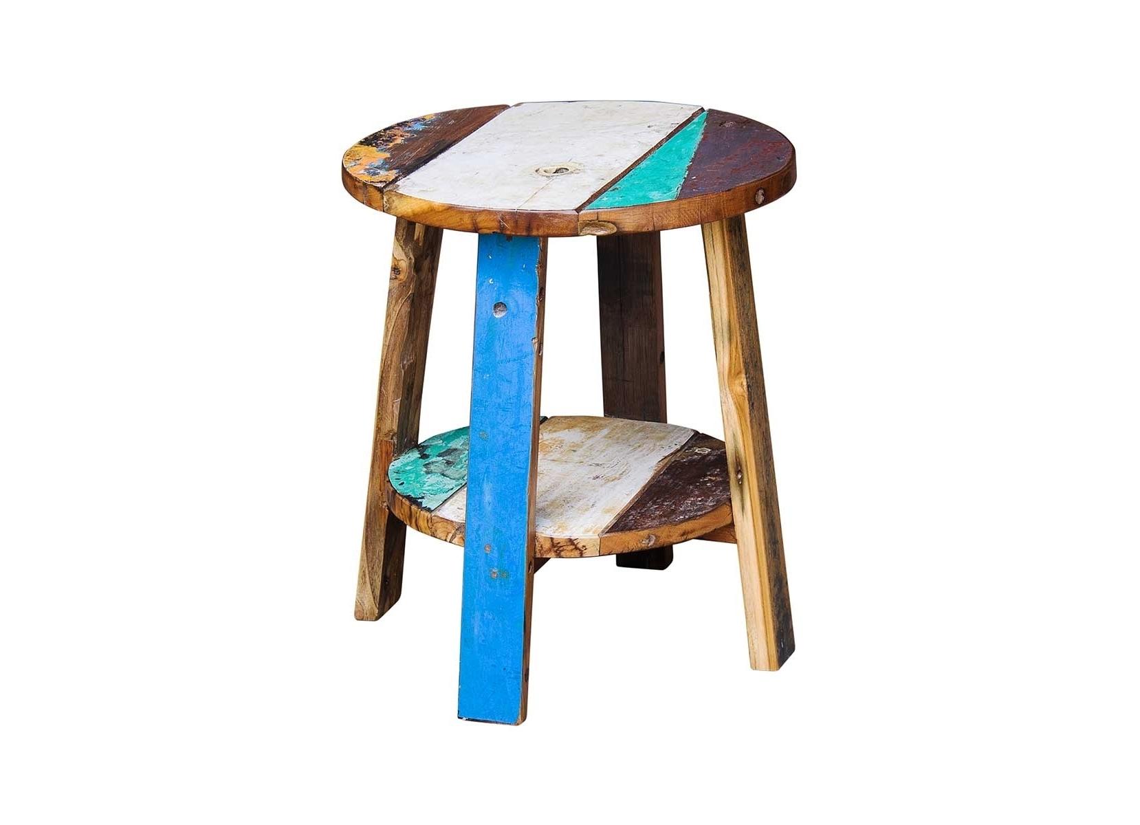 Тумба/табурет ГандиТабуреты<br>Тумба/табурет, выполнена из массива древесины старого рыбацкого судна, такой как: тик, махогон, суар, с сохранением оригинальной многослойной окраски. Компактный размер делает предмет идеальным для небольших пространств. Универсальная форма позволяет использовать не только как табурет, но и как тумбу, подставку для цветов или ванных принадлежностей. Подходит для использования как внутри помещения, так и снаружи.<br><br>Material: Тик<br>Ширина см: 45<br>Высота см: 55<br>Глубина см: 45