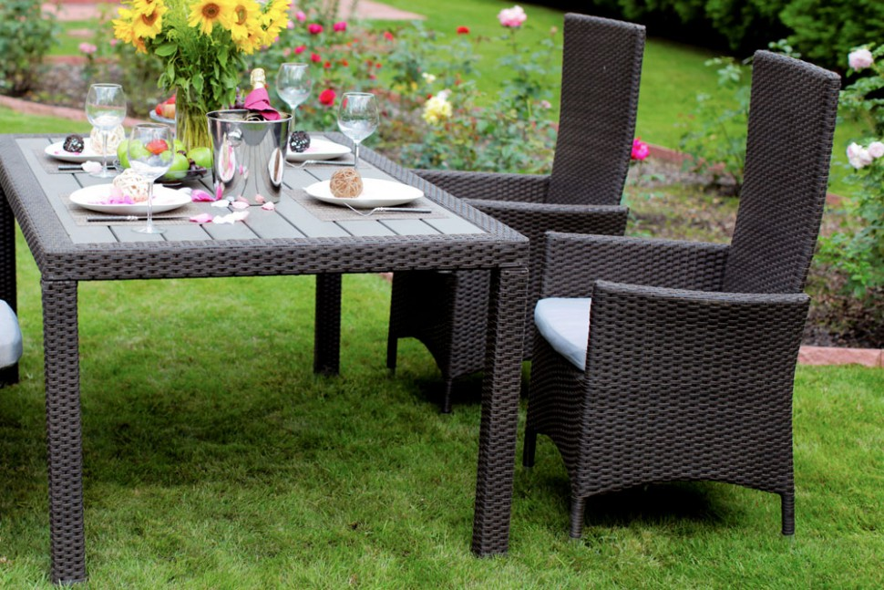 Обеденный стол LAVRAS 165Столы и столики для сада<br>Вес изделия: 25 кг.<br><br>Material: Ротанг<br>Width см: 205<br>Depth см: 105<br>Height см: 75