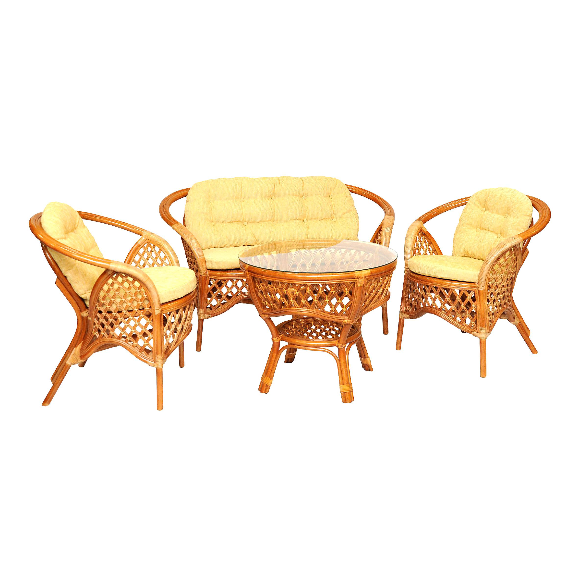 Комплект кофейный MelangКомплекты уличной мебели<br>Оригинальный дизайн делает этот комплект очень комфортным и красивым.<br>В комплект входят два кресла, диван, мягкие подушки (на спинку и сидение), столик со стеклом на присосках.&amp;amp;nbsp;&amp;lt;div&amp;gt;&amp;lt;br&amp;gt;&amp;lt;/div&amp;gt;&amp;lt;div&amp;gt;Материал каркаса:  натуральный ротанг&amp;lt;/div&amp;gt;&amp;lt;div&amp;gt;Цвет:  коньячный&amp;lt;/div&amp;gt;&amp;lt;div&amp;gt;Мягкая обивка/подушка:  шенилл&amp;lt;/div&amp;gt;&amp;lt;div&amp;gt;Размер:  стол 71х61х71 см;  кресло 70х74х70 см;  диван 115х74х70 см&amp;lt;/div&amp;gt;&amp;lt;div&amp;gt;Выдерживаемая нагрузка, кг:  95&amp;lt;/div&amp;gt;&amp;lt;div&amp;gt;Вес, кг:  35&amp;lt;/div&amp;gt;<br><br>Material: Ротанг<br>Width см: 115<br>Depth см: 70<br>Height см: 74