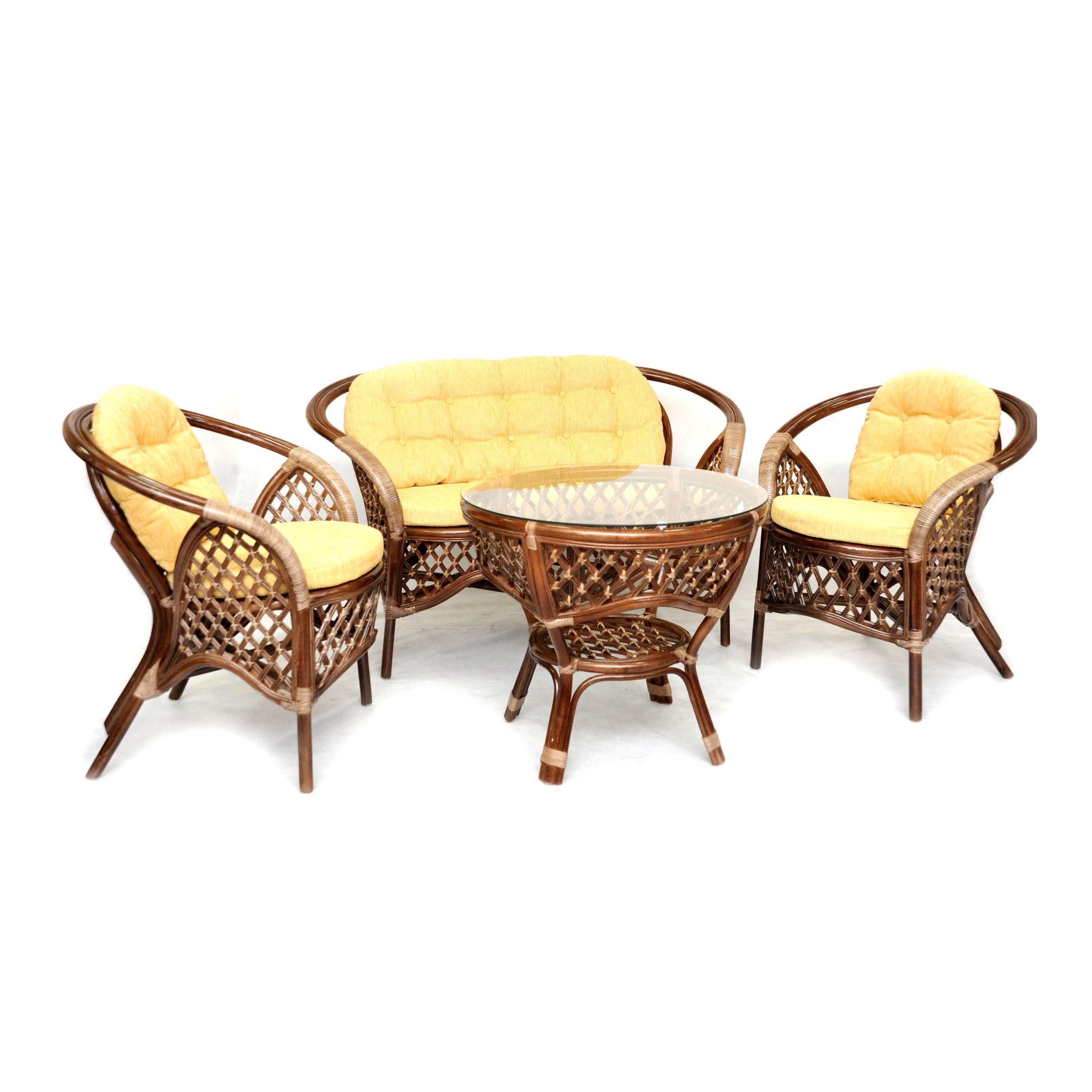 Комплект кофейный MelangКомплекты уличной мебели<br>&amp;lt;span style=&amp;quot;line-height: 24.9999px;&amp;quot;&amp;gt;Оригинальный дизайн делает этот комплект очень комфортным и красивым. В комплект входят два кресла, диван, мягкие подушки (на спинку и сидение), столик со стеклом на присосках.&amp;amp;nbsp;&amp;lt;/span&amp;gt;&amp;lt;div style=&amp;quot;line-height: 24.9999px;&amp;quot;&amp;gt;&amp;lt;br&amp;gt;&amp;lt;/div&amp;gt;&amp;lt;div style=&amp;quot;line-height: 24.9999px;&amp;quot;&amp;gt;Материал каркаса: натуральный ротанг&amp;lt;/div&amp;gt;&amp;lt;div style=&amp;quot;line-height: 24.9999px;&amp;quot;&amp;gt;Цвет: коричневый&amp;lt;/div&amp;gt;&amp;lt;div style=&amp;quot;line-height: 24.9999px;&amp;quot;&amp;gt;Мягкая обивка/подушка: шенилл&amp;lt;/div&amp;gt;&amp;lt;div style=&amp;quot;line-height: 24.9999px;&amp;quot;&amp;gt;Размер: стол 71х61х71 см; кресло 70х74х70 см; диван 115х74х70 см&amp;lt;/div&amp;gt;&amp;lt;div style=&amp;quot;line-height: 24.9999px;&amp;quot;&amp;gt;Выдерживаемая нагрузка, кг: 95&amp;lt;/div&amp;gt;&amp;lt;div style=&amp;quot;line-height: 24.9999px;&amp;quot;&amp;gt;Вес, кг: 35&amp;lt;/div&amp;gt;<br><br>Material: Ротанг<br>Width см: 115<br>Depth см: 70<br>Height см: 74
