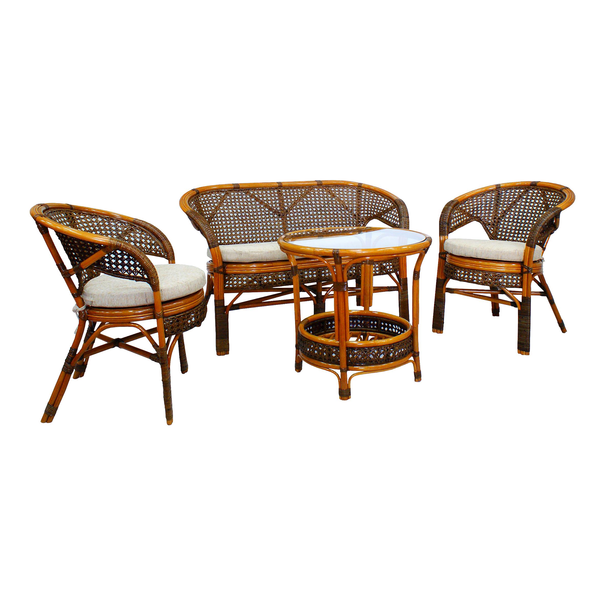 Комплект кофейный ПелангиКомплекты уличной мебели<br>&amp;lt;span style=&amp;quot;line-height: 24.9999px;&amp;quot;&amp;gt;Несмотря на изящное плетение из ротанга, этот комплект мебели может выдерживать большой вес. Важным достоинством является анатомическая спинка и сплошное ротанговое плетение сидения и спинки, что позволяет использовать комплект без подушки.В комплект входят два кресла, диван, мягкие подушки (на сидение), столик со стеклом (вставляется в паз).&amp;lt;/span&amp;gt;&amp;lt;div style=&amp;quot;line-height: 24.9999px;&amp;quot;&amp;gt;&amp;lt;br&amp;gt;&amp;lt;/div&amp;gt;&amp;lt;div style=&amp;quot;line-height: 24.9999px;&amp;quot;&amp;gt;Материал каркаса: натуральный ротанг&amp;lt;/div&amp;gt;&amp;lt;div style=&amp;quot;line-height: 24.9999px;&amp;quot;&amp;gt;Цвет: коричневый&amp;lt;/div&amp;gt;&amp;lt;div style=&amp;quot;line-height: 24.9999px;&amp;quot;&amp;gt;Мягкая обивка/подушка: ткань рогожка&amp;lt;/div&amp;gt;&amp;lt;div style=&amp;quot;line-height: 24.9999px;&amp;quot;&amp;gt;Размер: диван 123х70х78 см., кресло 66х70х78 см., стол 61х61х64 см&amp;lt;/div&amp;gt;&amp;lt;div style=&amp;quot;line-height: 24.9999px;&amp;quot;&amp;gt;Выдерживаемая нагрузка, кг: 100.&amp;lt;/div&amp;gt;<br><br>Material: Ротанг<br>Ширина см: 123<br>Высота см: 70<br>Глубина см: 78