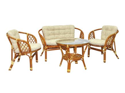 Комплект кофейный багама (ecogarden) коричневый 120x65x75 см.