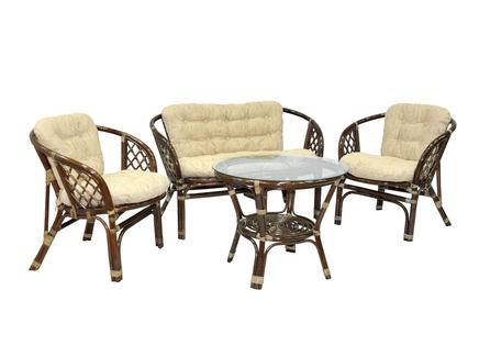 Комплект кофейный багама (ecogarden) коричневый 120x75x65 см.