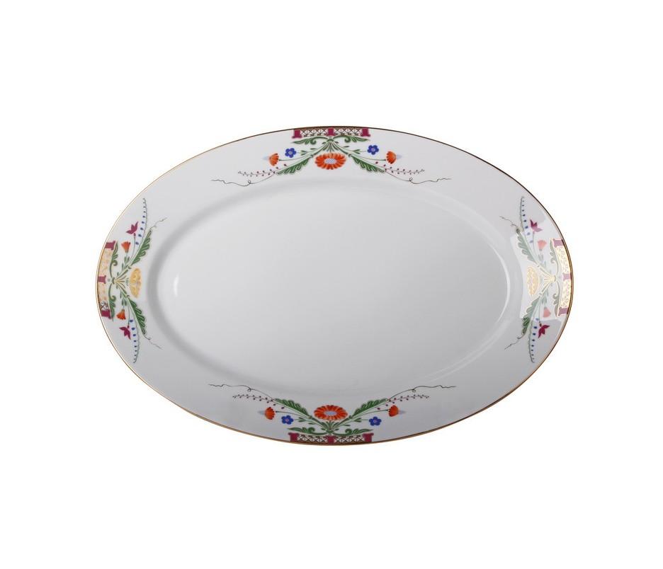 Блюдо овальноеДекоративные блюда<br><br><br>Material: Фарфор<br>Width см: 40,1<br>Depth см: 27,4<br>Height см: 4,5
