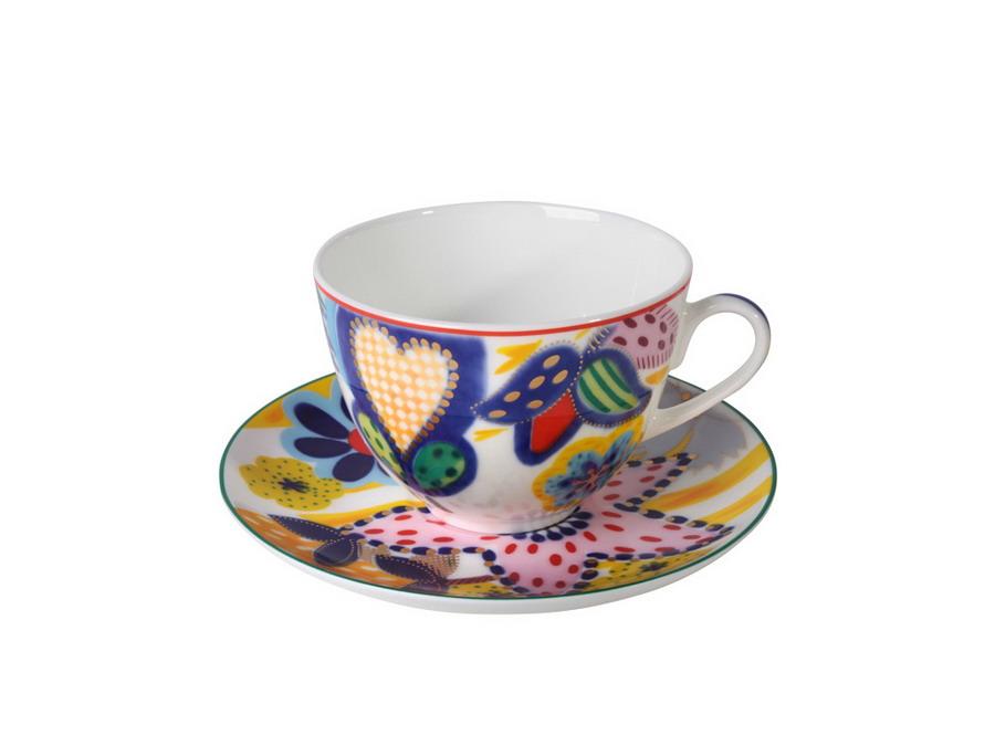 Чайная пара ТаняЧайные пары и чашки<br>В комплект входят чашка и блюдце.<br><br>Material: Фарфор