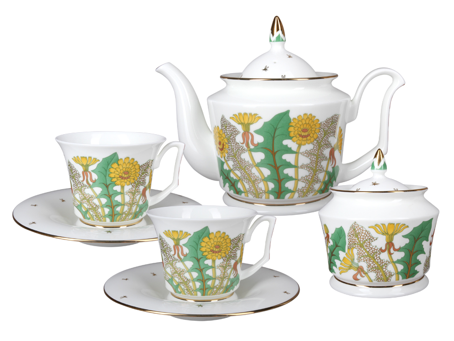 Чайный сервиз ЮлияЧайные сервизы<br>Сервиз на 6 персон, состоит из 20 предметов: 6 чашек, 6 блюдец, чайника, сахарницы.&amp;lt;div&amp;gt;&amp;lt;br&amp;gt;&amp;lt;/div&amp;gt;&amp;lt;div&amp;gt;Размеры чайника: 12х15,7х20,6 см&amp;lt;/div&amp;gt;&amp;lt;div&amp;gt;Размеры сахарницы: 9,6х10,5х9,6 см&amp;lt;/div&amp;gt;&amp;lt;div&amp;gt;Размеры чашки: 9,2х7,4х10,7 см&amp;lt;/div&amp;gt;&amp;lt;div&amp;gt;Размеры блюдца: 16,4х2,5х16,4 см&amp;lt;/div&amp;gt;<br><br>Material: Фарфор