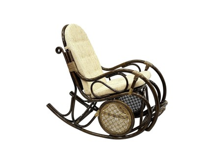 Кресло-качалка (ecogarden) коричневый 61x107x137 см.