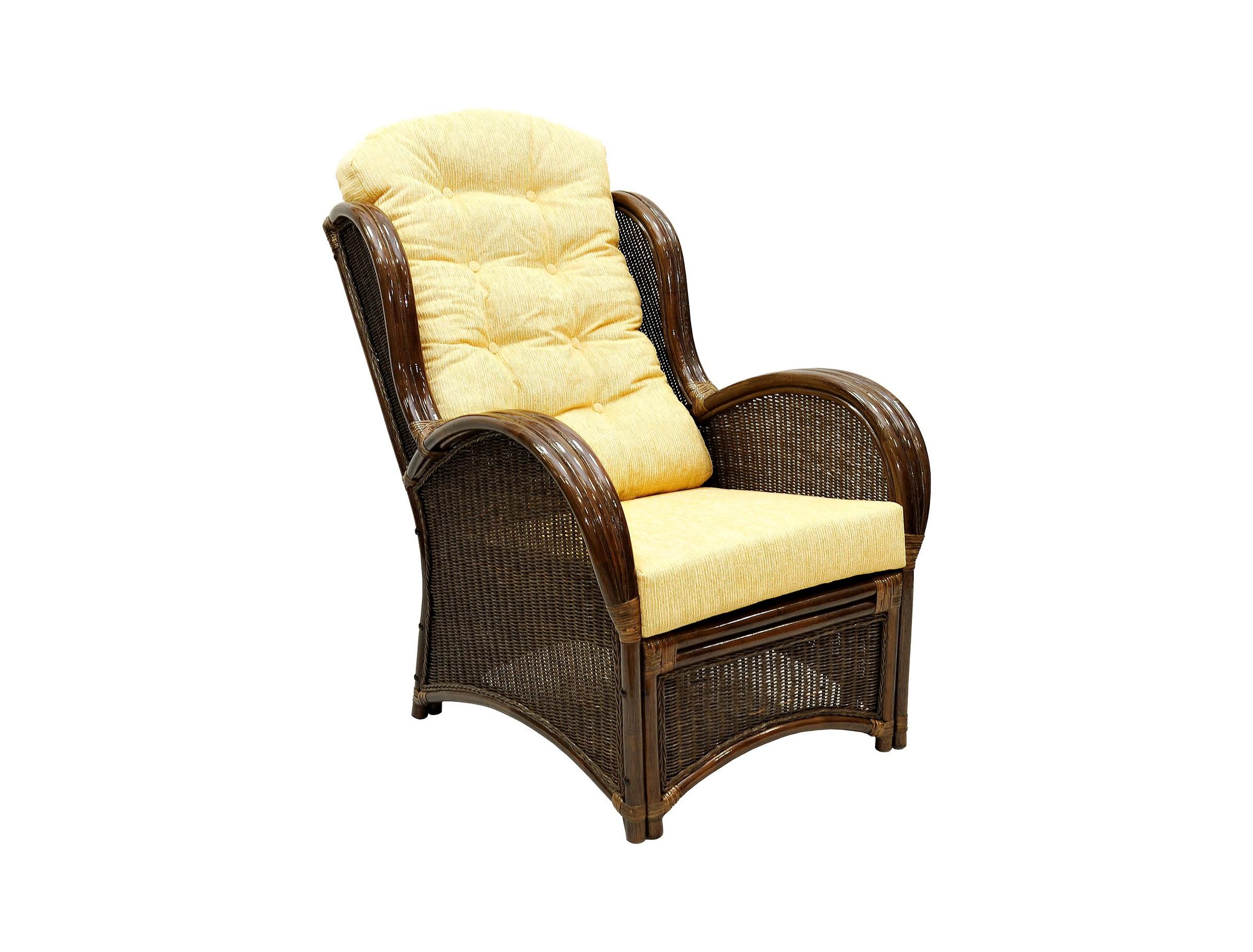 Кресло для отдыха WingКресла и стулья для дачного дома<br>Подлокотники кресла выполнены из соединенных между собой трех стволов ротанга. Боковины и спинку украшает оригинальное плетение из расщепленного ротанга. &amp;amp;nbsp;&amp;lt;div&amp;gt;&amp;lt;br&amp;gt;&amp;lt;/div&amp;gt;&amp;lt;div&amp;gt;Цвет: браун (коричневый)&amp;lt;/div&amp;gt;&amp;lt;div&amp;gt;Материал подушки: шенилл&amp;lt;/div&amp;gt;&amp;lt;div&amp;gt;Вес, кг:  19&amp;lt;/div&amp;gt;&amp;lt;div&amp;gt;Особенности:  сборно-разборная&amp;lt;/div&amp;gt;&amp;lt;div&amp;gt;Выдерживаемая нагрузка, кг:  120&amp;lt;/div&amp;gt;<br><br>Material: Ротанг<br>Width см: 72<br>Depth см: 101<br>Height см: 102