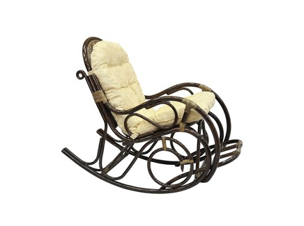 Кресло-качалка с подножкой (ecogarden) коричневый 58x99x128 см.