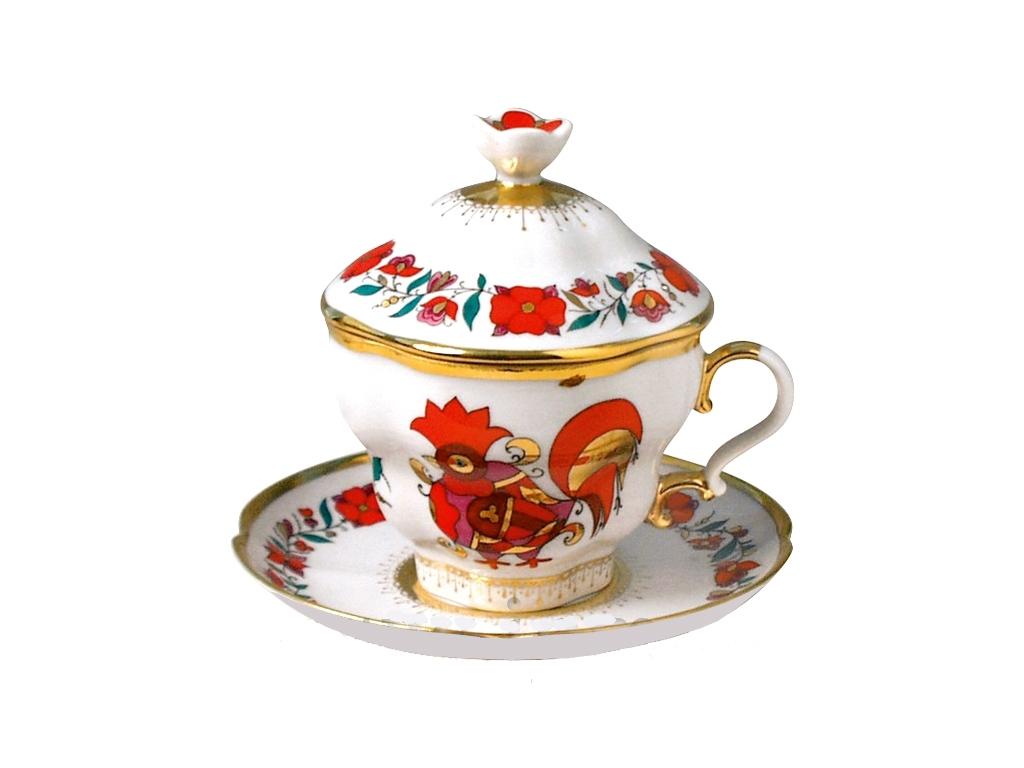 Чашка с блюдцем и с крышкой чайная
