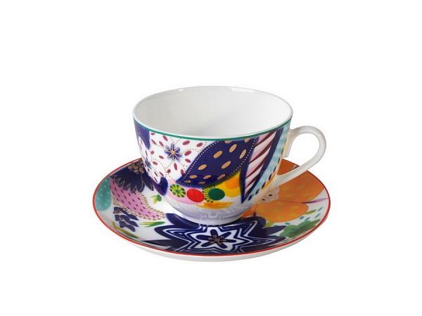 Чашка с блюдцем чайная ВесенняяЧайные пары и чашки<br><br><br>Material: Фарфор